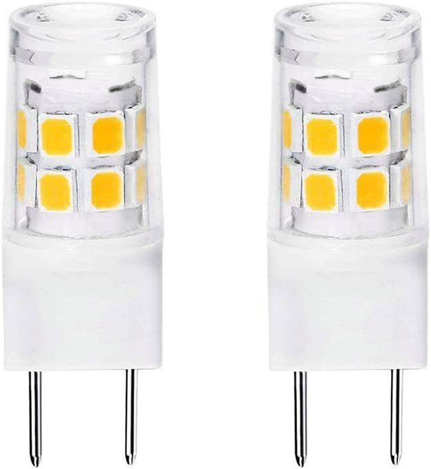 G8 Led Bulb 3W Equivalent to WB25X10019 20W Halogen Lamp Bulb 20W Replacement for GE Microwave, 120V Natural White 4000K (2 Pack)