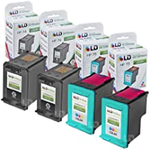 LD Remanufactured Ink Cartridge Replacements for HP CB335WN (HP 74) Black and HP CB337WN (HP 75) Color (2 Black and 2 Color)
