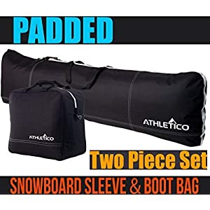 9186a5330525 Athletico Padded Two-Piece Snowboard and Boot Bag Combo