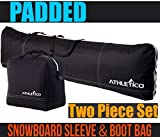 Athletico Padded Two-Piece Snowboard and Boot Bag Combo | Store & Transport...