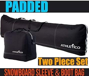 Amazon.com: Athletico - Bolsa acolchada para snowboard y ...