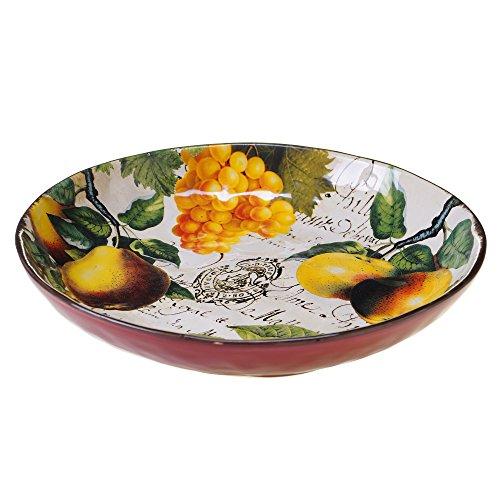 Certified International Botanical Fruit Pasta/Serving Bowl, 13-Inch, Multicolor (13 Inch Serving Bowl)