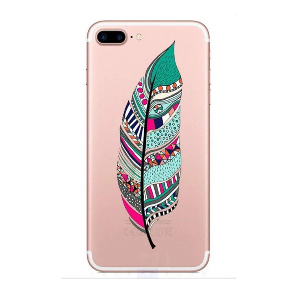 Felfy Coque iPhone 7 Plus 8 Plus Transparente Silicone,Okssud iPhone 7 Plus 8 Plus /Étui Silicone Transparente Ultra Mince Souple TPU Housse T/él/éphone Couverture Crystal Clair Coque Housse /Étui
