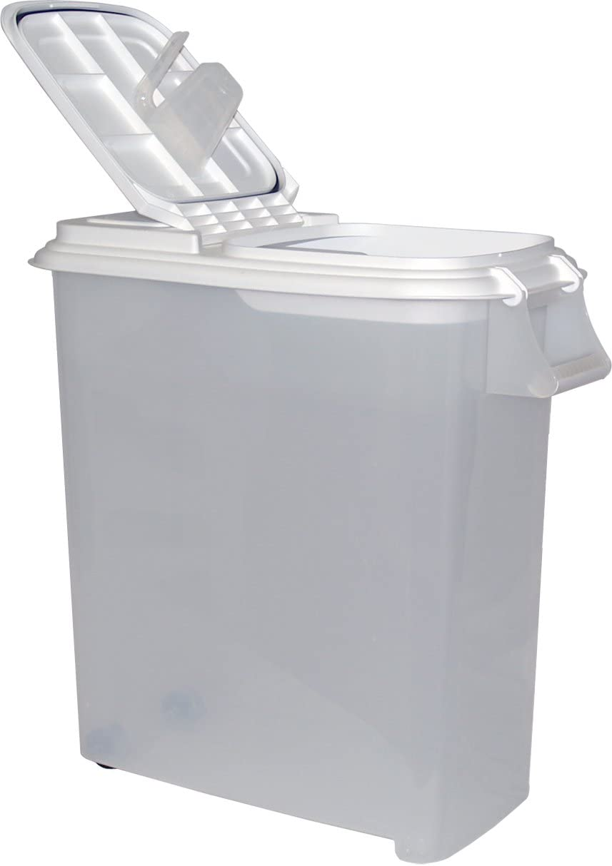 Buddeez 12-1/2-Gallon Roll-Away Pet Food Dispenser with Scoop-Holds up up to 44lbs