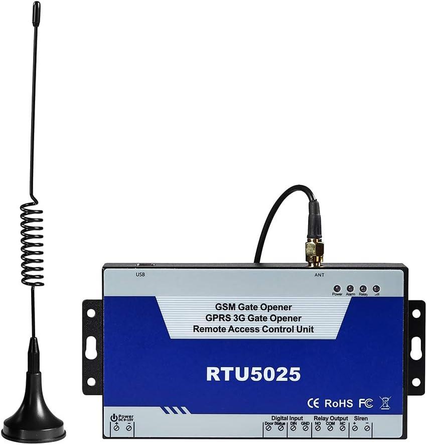 Interruptor remoto GSM 3G de apertura de puerta, RTU5025 remitentes de puerta GPRS 3G con control de dial GSM, operador SMS GSM 3G por alarma de teléfono móvil (RTU5025)