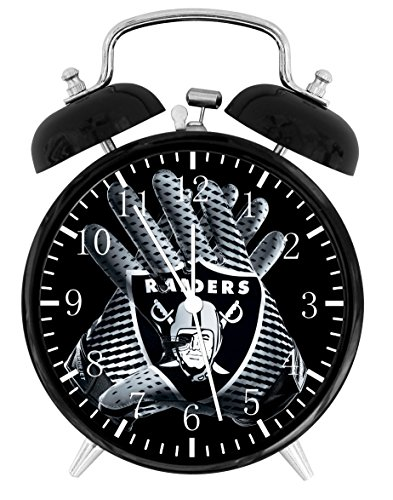 (Raiders Alarm Desk Clock Home Office Decor F62 Nice For Gifts)