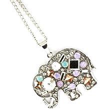 Elephant Necklace Z10 Crystal Glass Stones Rhodium Plate Jungle Animal Big Fashion Jewelry