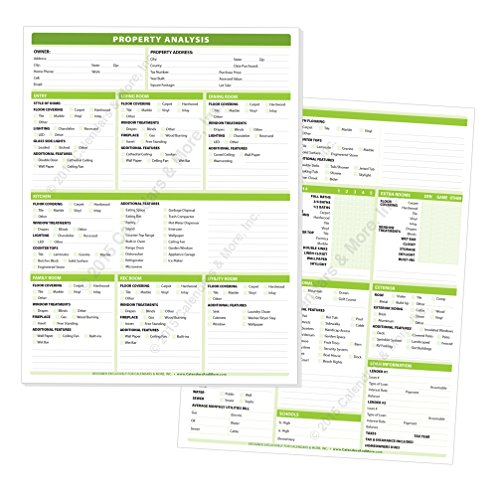 Real Estate Property Analysis Pad   A Complete Checklist Of All The Features Of Todays Residential Real Estate  Pad Of 50 Sheets