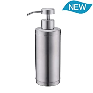 Soap Dispenser Pump Bathroom Kitchen 10 Oz 304L Stainless Steel Countertop Lotion Dispenser 300ML Liquid Bottle Hand Wash Rust Proof Pump