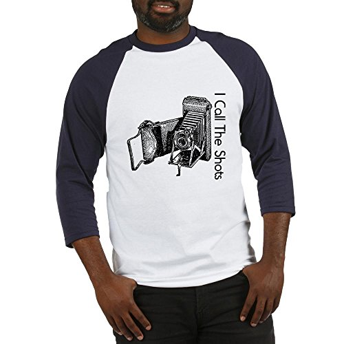 CafePress I Call The Shots Baseball Jersey Cotton Baseball Jersey, 3/4 Raglan Sleeve Shirt Blue/White ()