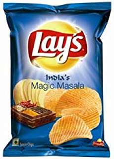 product image for Lays India's Magic Masala Potato Chips 30 grams x Pack of 2 = Total 60 Grams, India
