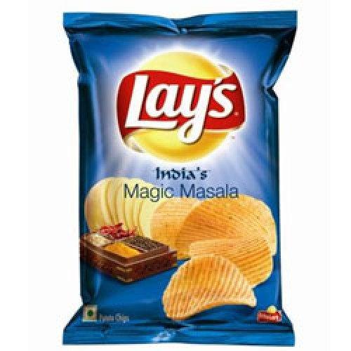 Lays India's Magic Masala Potato Chips 30 grams x Pack of 2 = Total 60 Grams, -