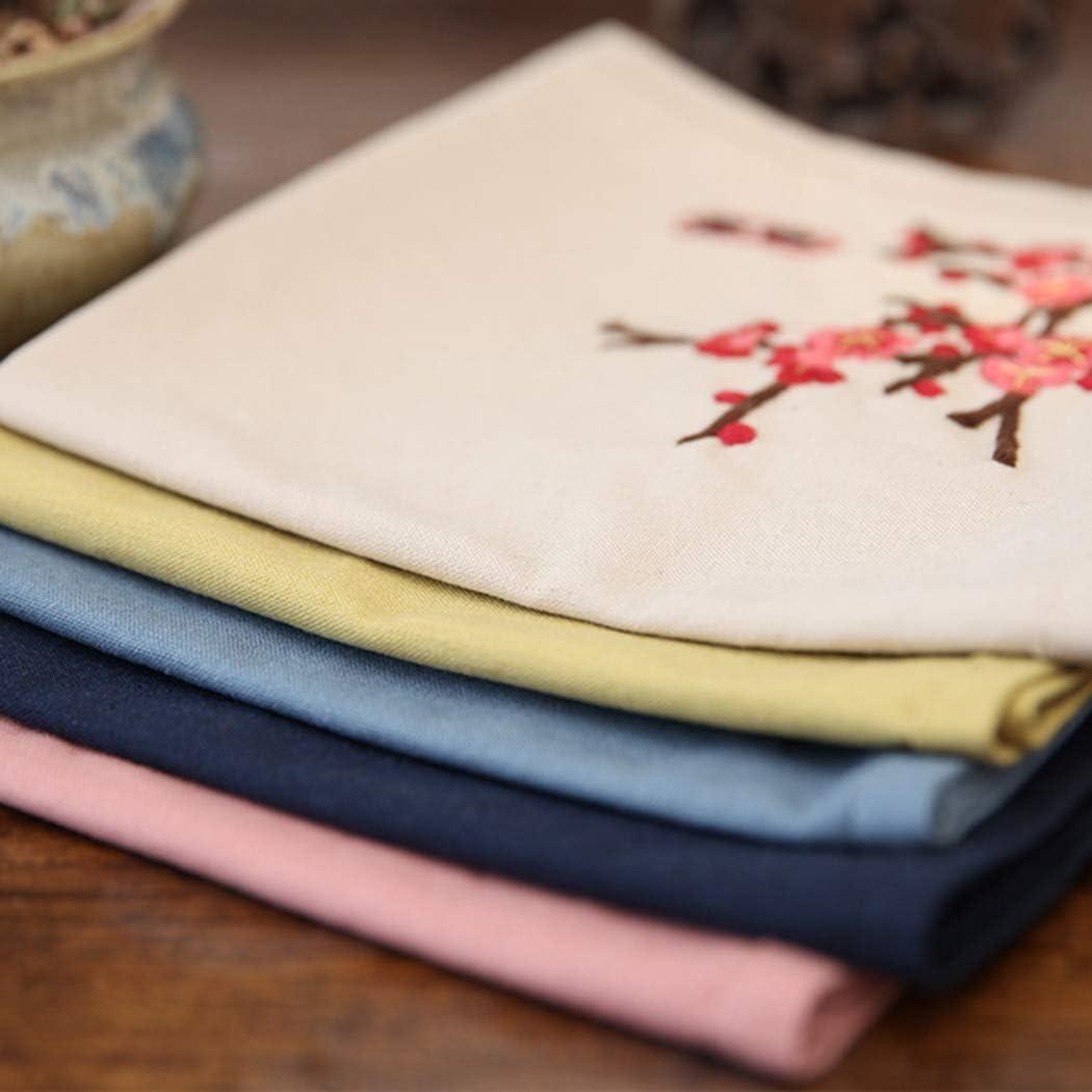 Zoylink Cross Stitch Fabric Fashion Cotton Linen Cross Stitch Cloth Embroidery Cloth