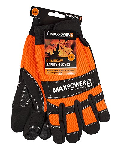 MaxPower 336586 Chainsaw Safety Gloves