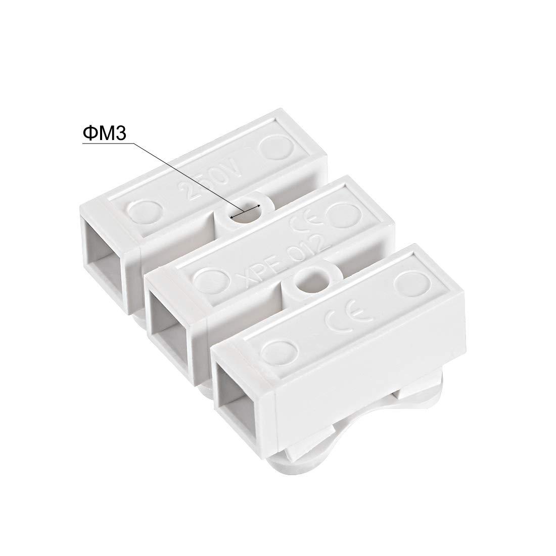 CH1 Feder Draht Verbinder Schnell Kabel Stecker Druck Typ Klemme Block sourcing map Verbindungsklemme 30stk