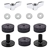 Baoblaze 4Pcs Felts + 2Pcs Stand Sleeve + 2Pcs Wing Nuts + 4Pcs Washers for Drummer