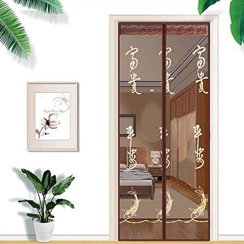蚊帳 カーテン自動防蚊ドアカーテン、磁気スクリーンドア、設置が簡単、虫除け蚊ドア、外気導入,A,80*200cm,B,85*200cm
