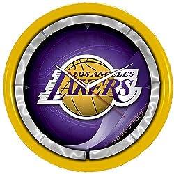 Authentic Street Signs NBA Sports Team Plasma Clock (Los Angeles Lakers)