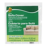 Duck Brand 1139735 Sofa Cover, Large, 41' x 131', Clear