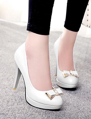 GGX/Damen Schuhe PU Fall Heels/Schuhe Heels Office & Karriere/Casual Stiletto-Absatz Schleife Blau/Pink/Weiß pink-us9 / eu40 / uk7 / cn41
