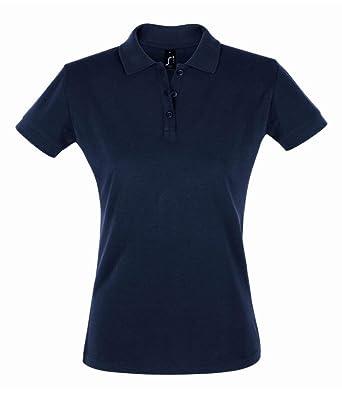 SOLS - Polo de piqué de algodón Mujer Azul Azul Marino XXL ...