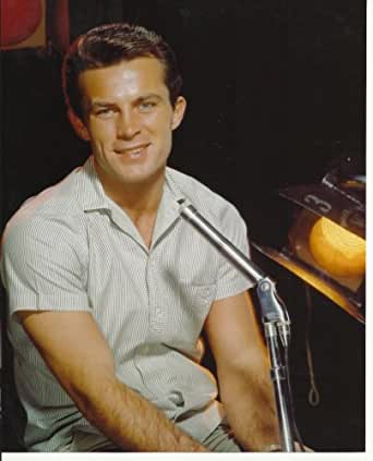 Robert Conrad very young in front of microphone 8x10 Photo