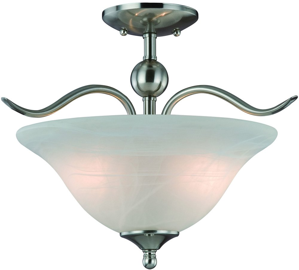 Hardware house h10 4289 dover semi flush mount ceiling light hardware house h10 4289 dover semi flush mount ceiling light satin nickel semi flush mount ceiling light fixtures amazon arubaitofo Image collections