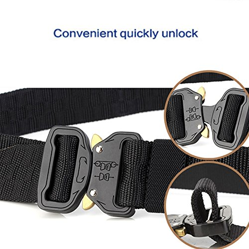 Thickyuan Men's Tactical Belt Heavy Duty Webbing Belt Adjustable Military Style Nylon Belts with Metal Buckle|MOLLE Tactical CQB Rigger|multiple choices by Thickyuan (Image #9)