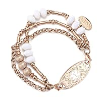 Rose Gold Medical Alert ID Bracelet for Womens
