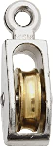 National Hardware N223-404 3203BC Fixed Single Pulley in Nickel