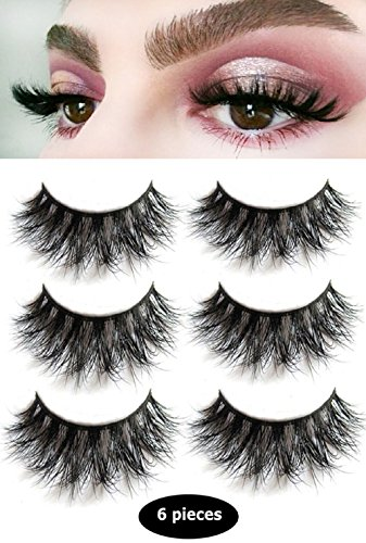 c6ea4c3635b 3D Mink False Eyelashes-Dramatic Makeup Strip Eyelashes 100% Siberian Fur  Fake Eyelashes Hand-made Natural Messy False Eyelashes& Reusable 3 Pair  Package