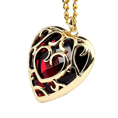 HiRudolph 1 X The Legend of Zelda Skyward Sword Red Heart Pierced Necklace Anime Costume Red