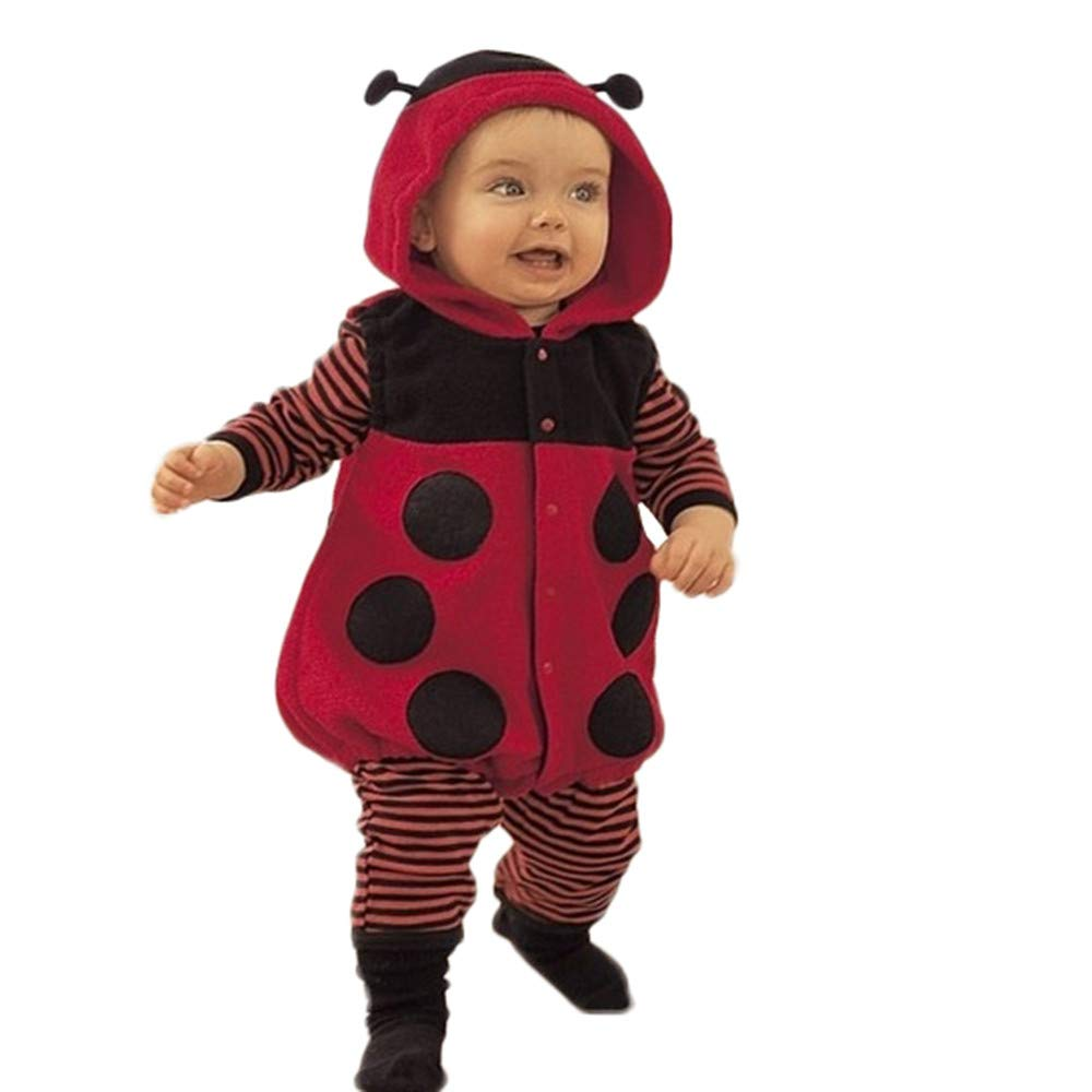 HOMEBABY Newborn Kids Baby Boys Girl Romper Warm Winter Jumpsuit Cartoon Animals Outfits Cotton Sets Clothes