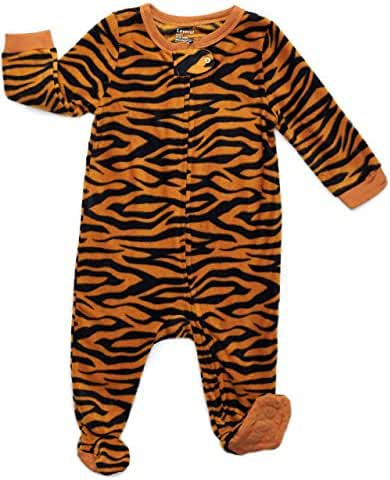 Leveret Boys Footed Fleece Sleeper Pajama (Size 6M-5 Years)