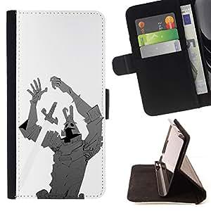 Momo Phone Case / Flip Funda de Cuero Case Cover - Espada de hierro El hombre criatura cómico héroe de dibujos animados - Samsung Galaxy S6 Active G890A