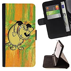 DEVIL CASE - FOR Sony Xperia Z3 D6603 - Dog Drawing Cartoon Comic Forest Fairytale - Style PU Leather Case Wallet Flip Stand Flap Closure Cover