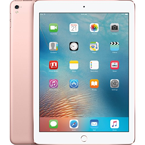 Apple iPad Pro Tablet (128GB, LTE, 9.7in) Rose Gold (Renewed)