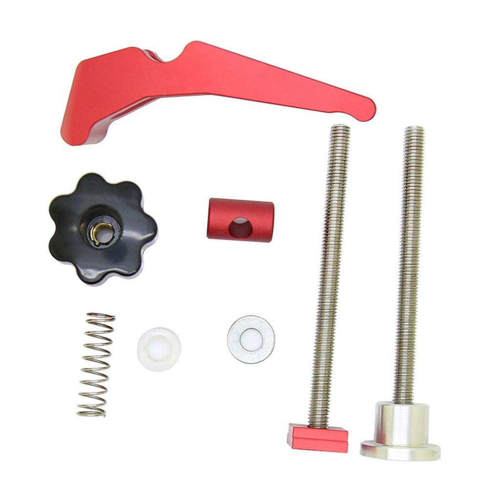 Ganmaov Quick Acting Hold Down Clamp Set Aluminum Adjustable Press Alloy Woodworking Tool for T-Slot T-Track greater