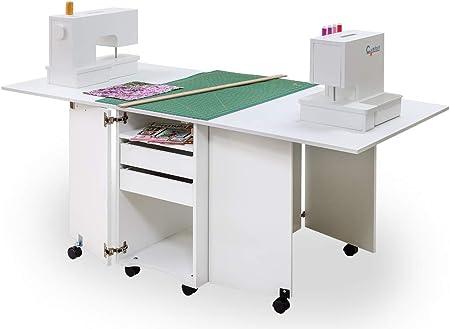 Comfort 9 | Muebles para máquinas de coser y overlock | Armario de costura | (Oak Kendal Cognac): Amazon.es: Hogar