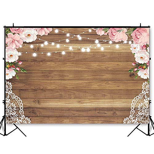 Funnytree 10x6.5ft Durable Fabric Flowers Wood Lace for sale  Delivered anywhere in USA