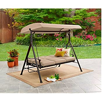 Mainstays 3 Seat Porch & Patio Swing (Tan)