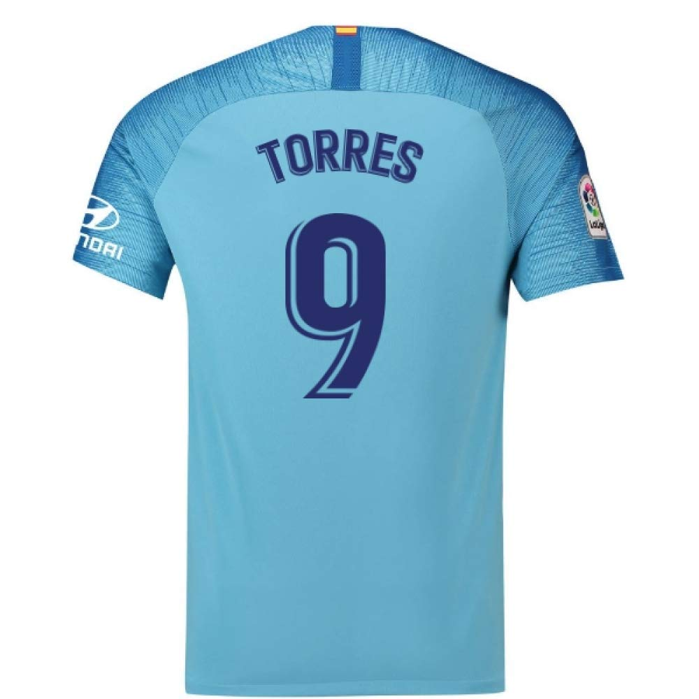 2018-19 Atletico Madrid Away Football Soccer T-Shirt Trikot (Fernando Torres 9) - Kids