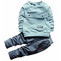 2PCS Baby Boys Girls Cartoon Clothing Set Long Sleeve Shirt and Pants 18Month...