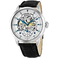 Men's 133.33152 Executive Automatic Skeleton Black Genuine Leather Strap Watch