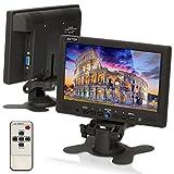 CCTV Monitor, Speaker, ZOTER 7'' inch Portable Speaker Audio HDMI LCD Mini Screen for Security Camera DVR