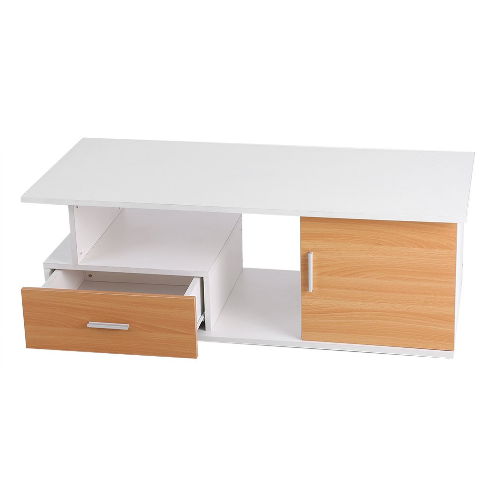 Centre TV Cabinet Stand, Home TV Cabinet Stand Living Room Modern Entertainment Console Center TV Stand Cabinet with Drawer & Storage Bin110X38X50CM
