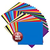 Angel Crafts 30.5cm by 30.5cm Self Adhesive Vinyl Sheets (35 PACK) - BEST Permanent Assorted Vinyl for Cricut, Silhouette Cameo, Craft Cutters, Printers, Letters, Wall Decoration, Decals, and More! (12in. x 12in.)