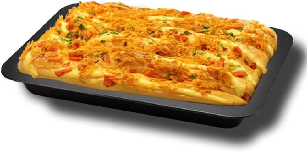 Plaque de cuisson au four moule /à g/âteau /à pain DIY pour biscuits Plaque de cuisson rectangulaire anti-adh/ésive biscuits frites de four et pizza S