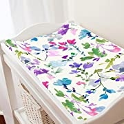 Carousel Designs Bright Wildflower Changing Pad Cover - Organic 100% Cotton Change Pad Cover - Made in the USA