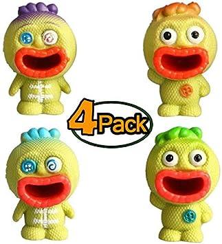 AMOWON Squishy Kawaii Juguetes, 4-Pack, Bolas de presión sensoriales estimulantes y calmantes para niños y Adultos - Squishies para el Autismo, inquietud, TDAH y Dejar Malos hábitos - Goma no tóxica: Amazon.es: